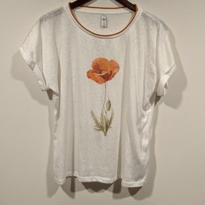 Soya Concept White Floral Tee
